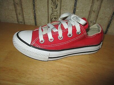 EUC kid's unisex red CONVERSE CHUCK TAYLOR athletic shoes - size 11 - CUTE!!!