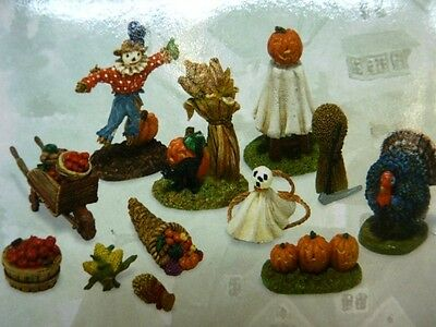 Dept 56 Seasons Bay Harvest Decorations Set of 12 53431 Read Description (a2465)