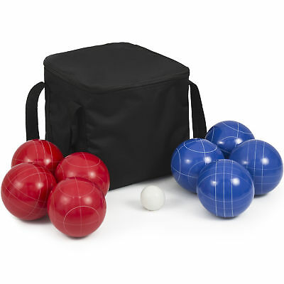 Portable Lawn Games 90mm Resin 9 Balls Ultimate Bocce Balls Set W/ Carrying Case