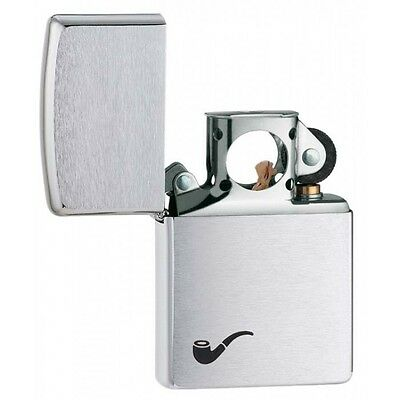 Pipe Brushed Chrome ZIPPO LIGHTER W/PIPE INSERT 200PL