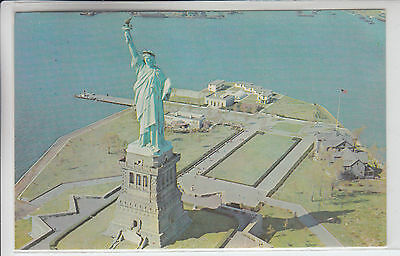 New York NY Vintage Postcard Statue of Liberty Island View