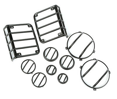 Rugged Ridge 07-18 Jeep Wrangler JK 10-Piece Euro Light Guard Kit Black 12496.02