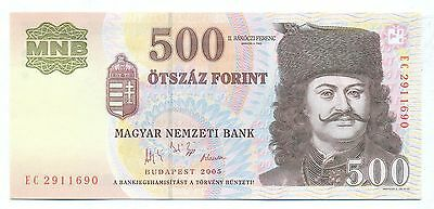 Hungary Note 500 Forint 2005 P 188 Unc