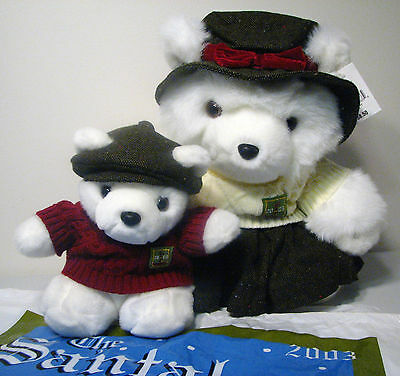 Mrs Santa Bear Irish Clan w/Boy 2003 Dayton Hudson Marshall Fields Collectible