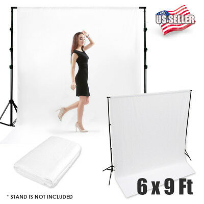 6'x9' White Muslin Wrinkle Free Backdrop Photo Studio Photography Background