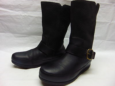 FitFlop Women's Black Leather Boots Style 425-090 sz. US 6.5