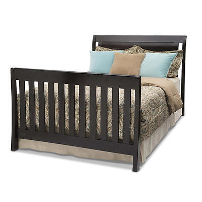 Simmons Kids Wood Full Size Bed Rail - Black Espresso