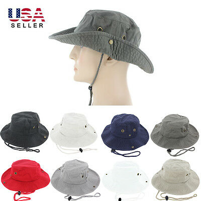 Boonie Bucket Hat Cap 100% Cotton Fishing Hunting Safari Summer Military Men Sun