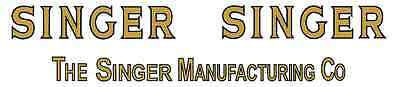 Singer Model 306 Sewing Machine  Restoration  Decals