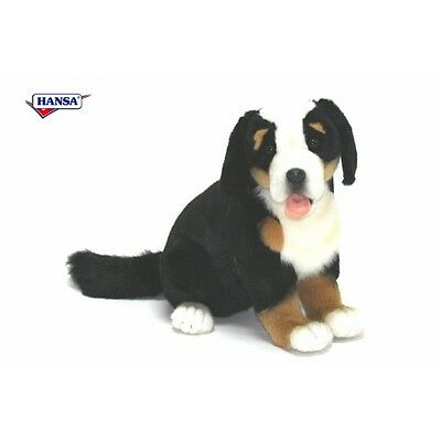 New NWT Hansa Life Like Handmade Stuffed Animal Bernese Mountain Dog Puppy