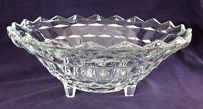 "Vintage Whitehall AMERICAN 3-Toed Bowl, 10"" Diameter, Indiana Glass"