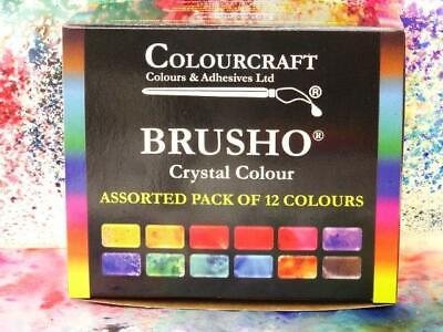 Brusho® Crystal Colour 12 x 15g Starter Set Non Toxic Watercolour