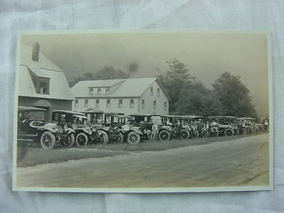 Vintage Car Photo Postcard Locomobile Pierce Arrow Hudson Packard NH License 786