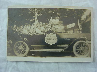 Vintage Photo Postcard WWI Victory Parade Car John Kiltonic 786