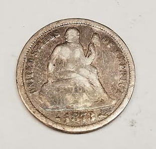 1873 10 cents Liberty Seated Dime (RC567)