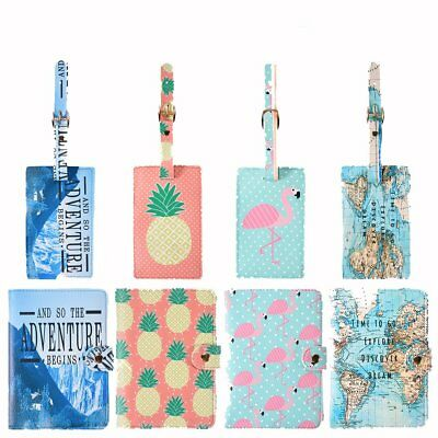 Passport Holder Wallet Cover Luggage Tag Suitcase Label Address ID Holiday Tags
