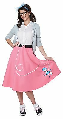 50's Poodle Skirt Women Adult Costume Pink