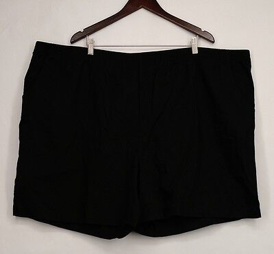 Basic Editions Woman Sz 4X Stretch Waist Casual Black Shorts NEW NWOT