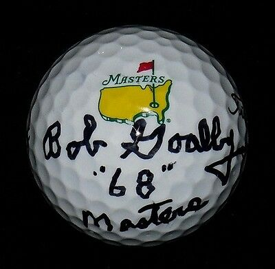 Bob Goalby Autographed Masters Logo Golf Ball (Pga) W/ Proof!