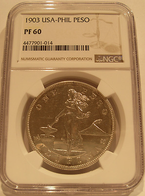 Philippines 1903 Silver Peso NGC PF60