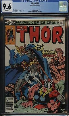 Thor 292 CGC 9.6 WHITE Odin vs Thor 1980 NM+ Keith Pollard Cover, Art 0215680030