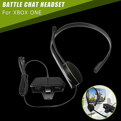 For Xbox One Gaming Wired Chat Headset Headphones Microphone Built in Adapter