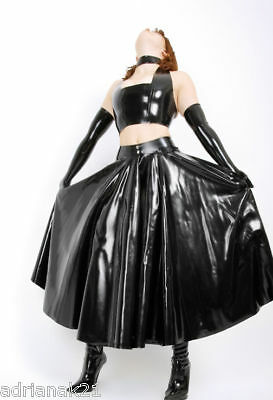 Jupe Longue Latex Ample Long Rubber Skirt XS-XXXL