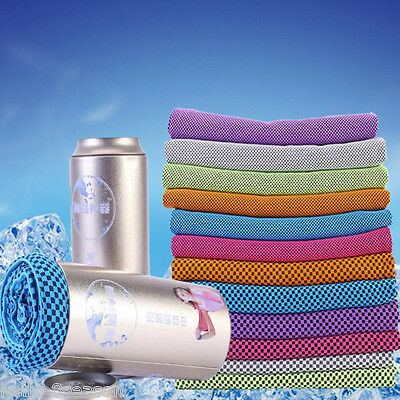 Summer Hypothermia Bilayer Sports Towels  Ice Cooling Towel Sweat Dry Jogging