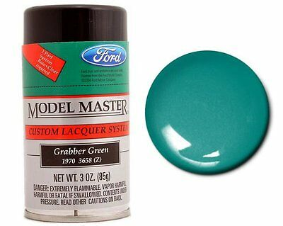 Testors Model Master Automotive Grabber Green Lacquer Spray Paint Can 3oz. 28116