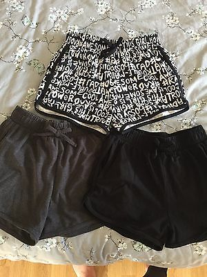 Girls 3 Pack Shorts Age 11 Years