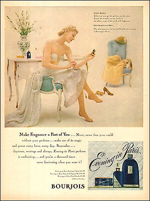 1949 vintage fragrance AD EVENING IN PARIS Bourjois Perfume,  071417