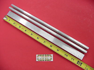 "3 Pieces 1/4"" X 3/4"" ALUMINUM 6061 FLAT BAR 12"" long Solid T6511 .25 Mill Stock"