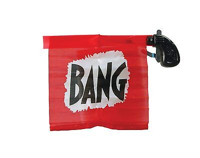 Reuseable Toy Fake Novelty Clown Prop Flag Bang Gun Fancy Dress Party Accessory