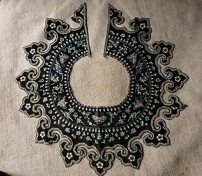 Antique Chinese Embroidered Collar