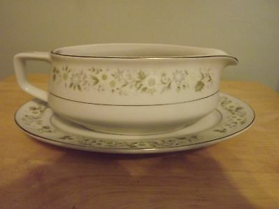 Imperial China, Dalton Wild Flower Gravey Boat and Plate, # 745 Made Japan
