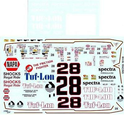 Powerslide #28 Tuflon 1980 Bobby Allison Nascar decal