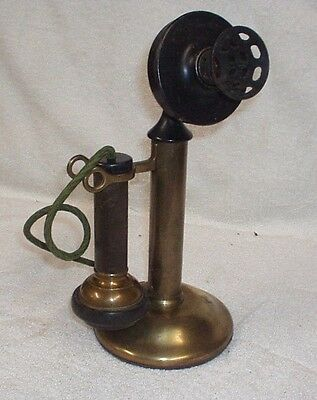 Antique Brass Candlestick Phone - Western Electric, Stromberg, Kellogg Parts