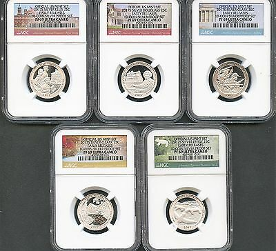 2017 S Silver Quarter Set From 10-Coin Silver Set Early Releases NGC PF69 U.C.