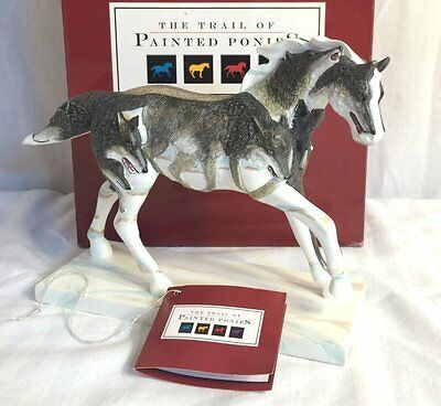 TWILIGHT HUNTERS Trail of the Painted Ponies Running Horse Figurine 2008 2E MIB