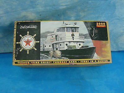 """Ertl Collectibles Texaco """"Fire Chief"""" Tugboat Bank 2000 Millennium Edition"""