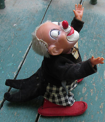 Rare Wind-Up Toy Flip Over Clown !!!