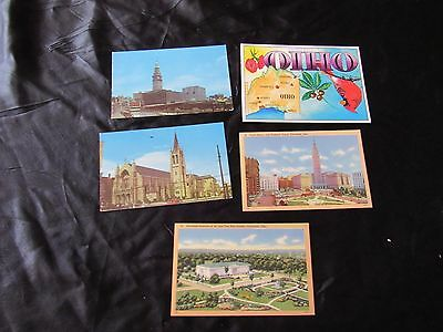 Lot 5 Vintage Postcards-Public Square-Museum,Federal Building Cleveland,Ohio