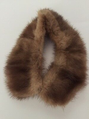 Brown Fur Collar With Lining