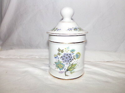 James Kent Staffordshire Old Foley Flower Gold Trim Canister Made in England