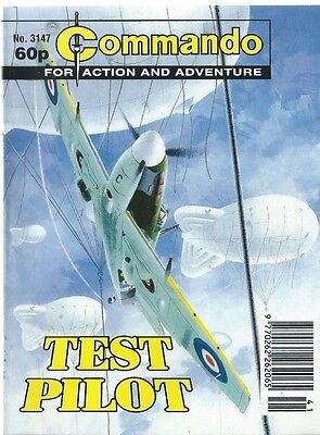 Test Pilot,commando For Action And Adventure,no.3147,war Comic,1998