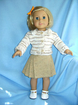 Doll clothes/ HANDMADE Skirt/SweaterSet/Fits American Girl 18 inch Dolls