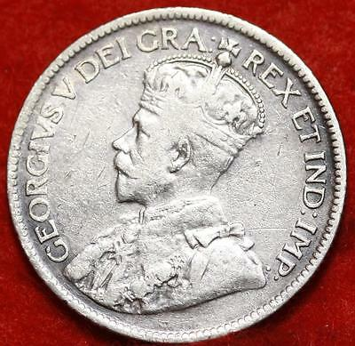 1919 Newfoundland 25 Cents Silver Foreign Coin Free S/H