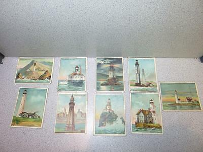Vintage Hassan the Oriental Smoke Cigarettes Tobaccco Lighthouse Card Lot of 141