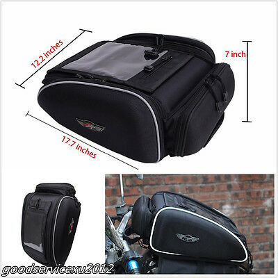 1 X Black Waterproof Magnetic Motorbike ATV Tank/Helmet Riding Fuel Oil Tank Bag