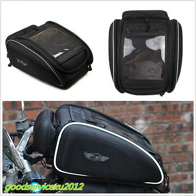 Portable Motorbike Travel Fuel Oil Tank/Helmet Magnetic Tail Bag With Rain Cover